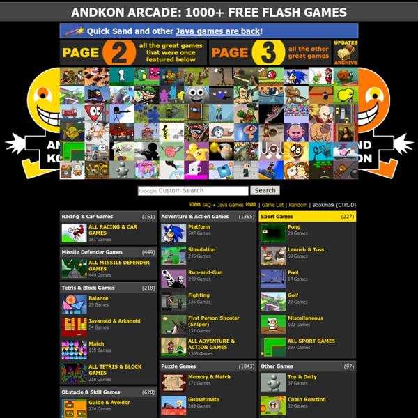 1000 Free Games Andkon Arcade