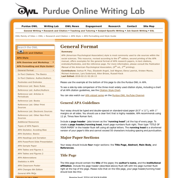 Purdue owl research paper